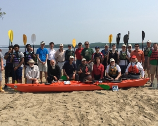 Kayakers gather for new guidebook and website launch.
