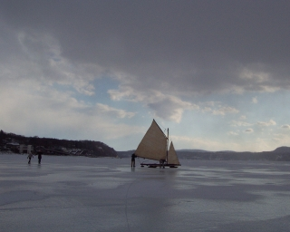 Iceboating on the Hudson
