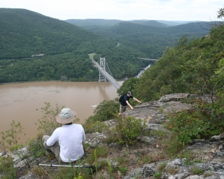 Hikers at Anthony's Nose in the Hudson Highlands