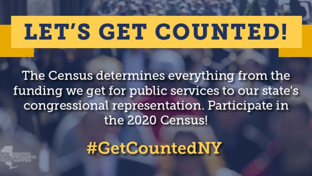 Let's Get Counted NY Logo. Links through to the US Census